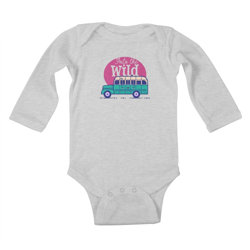 The Great Outdoors – Into the Wild Kids Baby Longsleeve Bodysuit by Bálooie's Artist Shop