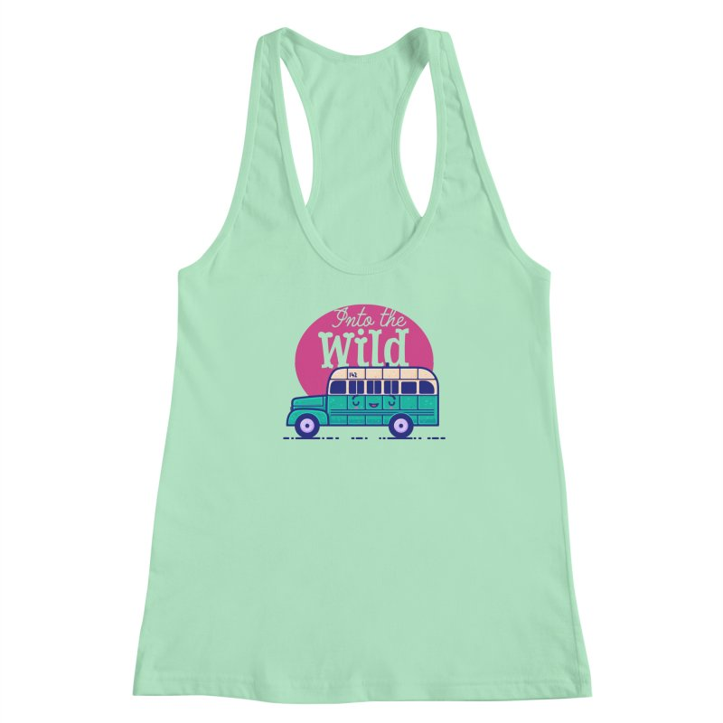 The Great Outdoors – Into the Wild Women's Racerback Tank by Bálooie's Artist Shop