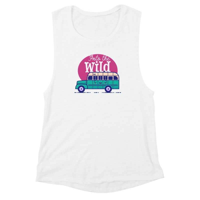The Great Outdoors – Into the Wild Women's Muscle Tank by Bálooie's Artist Shop
