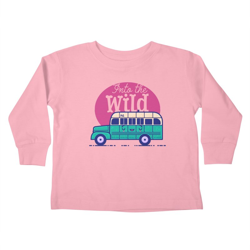 The Great Outdoors – Into the Wild Kids Toddler Longsleeve T-Shirt by Bálooie's Artist Shop