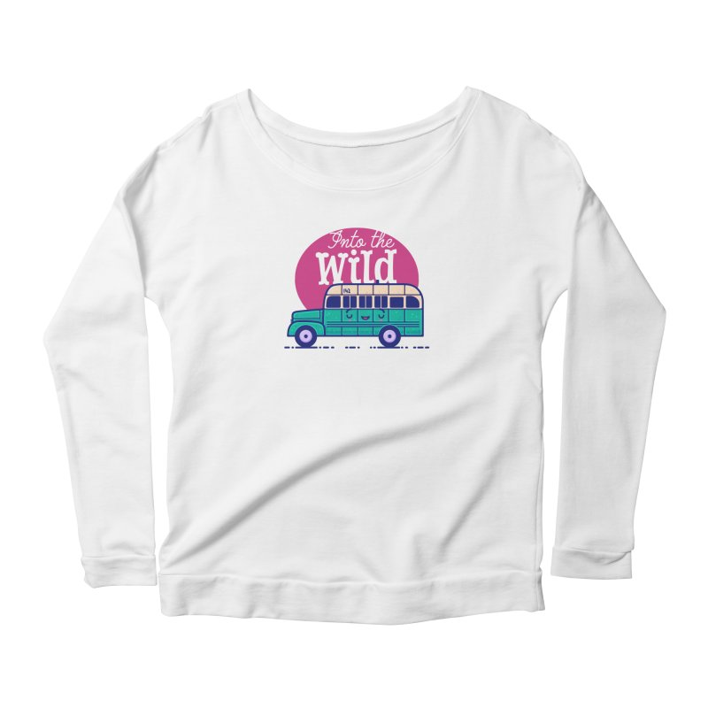 The Great Outdoors – Into the Wild Women's Scoop Neck Longsleeve T-Shirt by Bálooie's Artist Shop