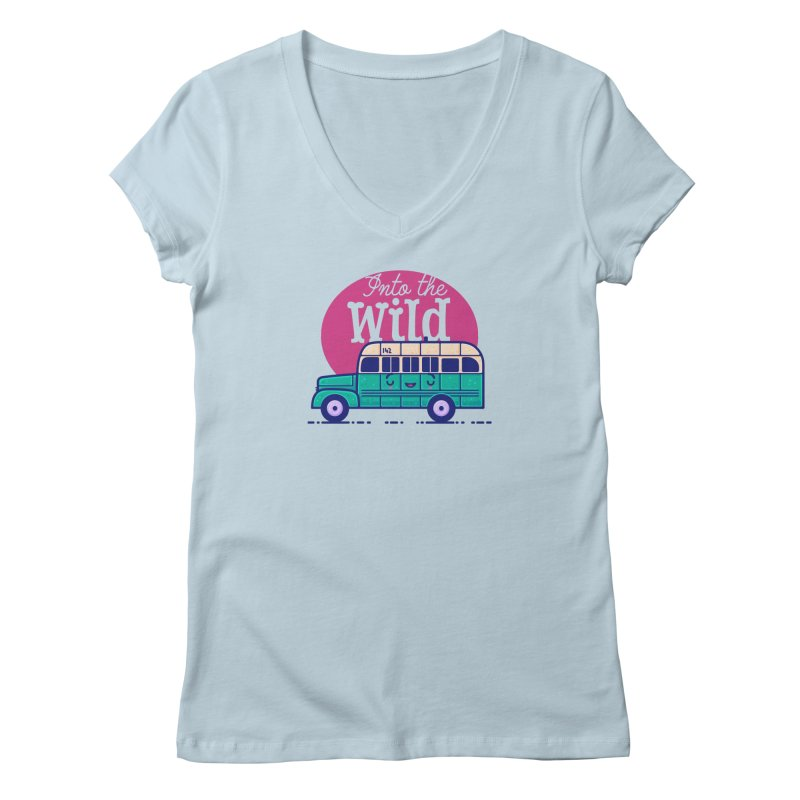 The Great Outdoors – Into the Wild Women's V-Neck by Bálooie's Artist Shop
