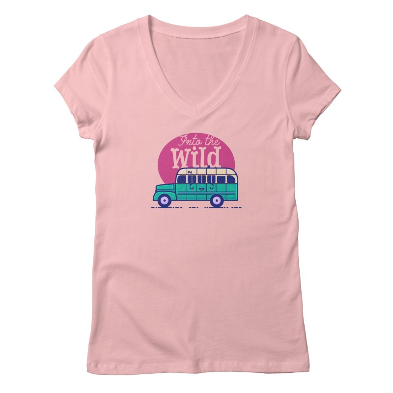 The Great Outdoors – Into the Wild Women's Regular V-Neck by Bálooie's Artist Shop