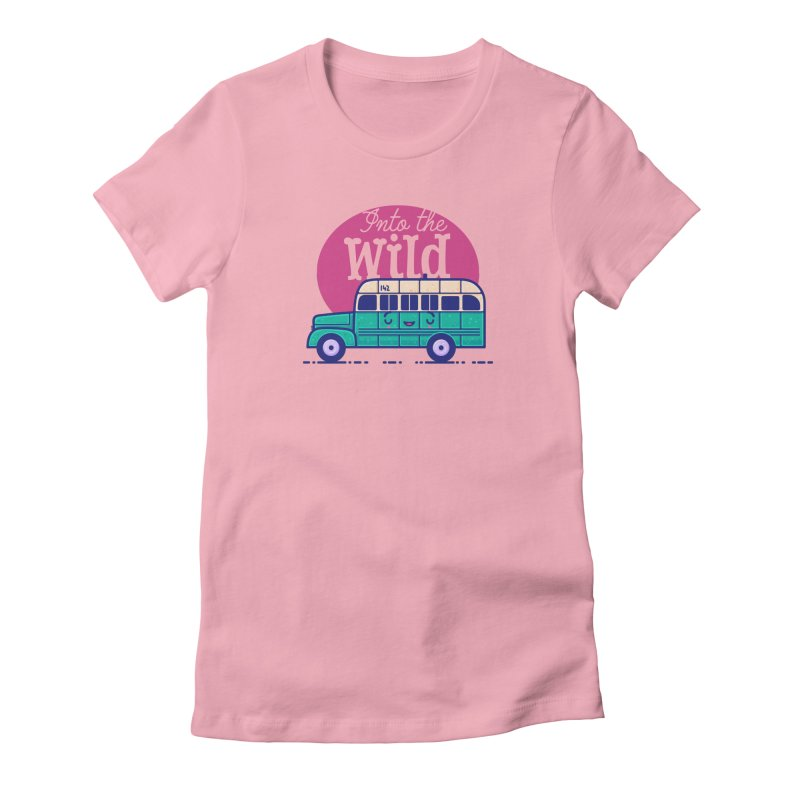The Great Outdoors – Into the Wild Women's Fitted T-Shirt by Bálooie's Artist Shop