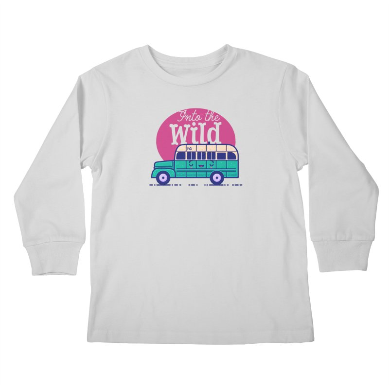 The Great Outdoors – Into the Wild Kids Longsleeve T-Shirt by Bálooie's Artist Shop