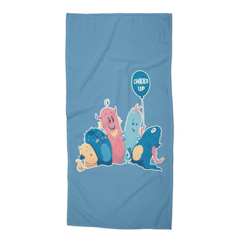Cheer Up! Accessories Beach Towel by Bálooie's Artist Shop