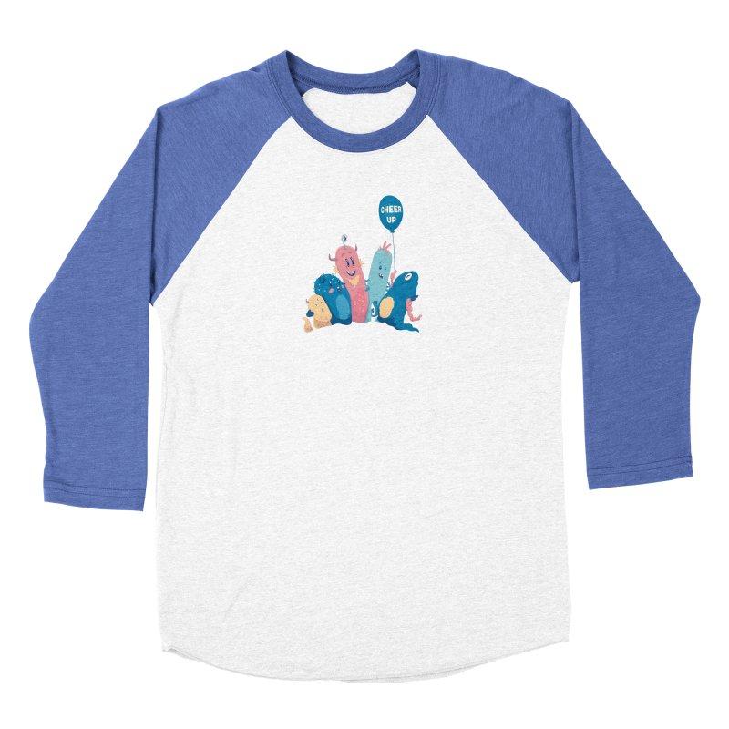 Cheer Up! Women's Baseball Triblend Longsleeve T-Shirt by Bálooie's Artist Shop