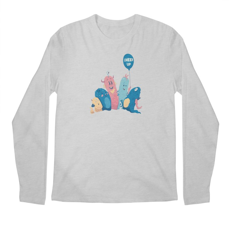 Cheer Up! Men's Regular Longsleeve T-Shirt by Bálooie's Artist Shop