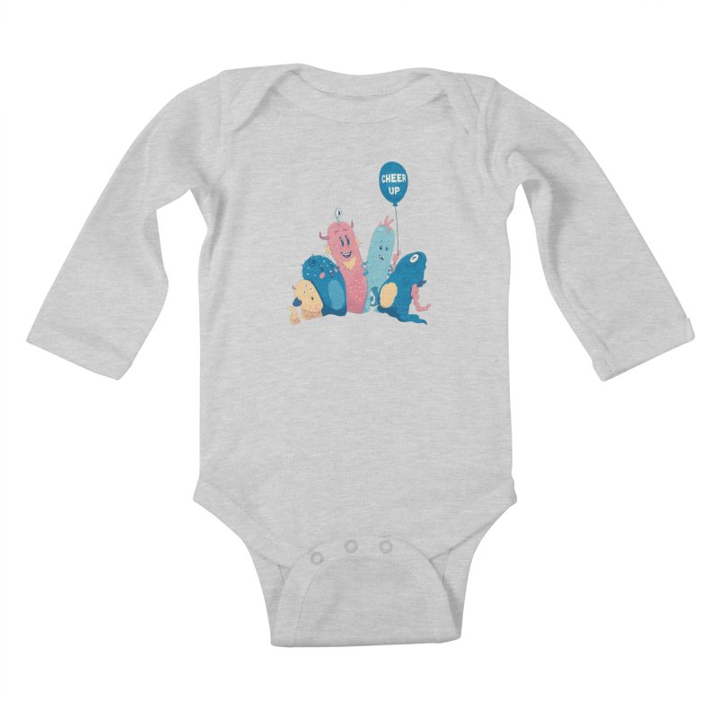 Cheer Up! Kids Baby Longsleeve Bodysuit by Bálooie's Artist Shop