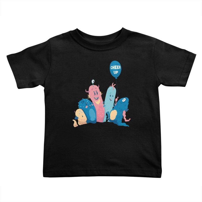 Cheer Up! Kids Toddler T-Shirt by Bálooie's Artist Shop