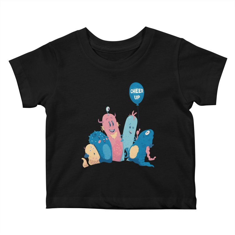Cheer Up! Kids Baby T-Shirt by Bálooie's Artist Shop