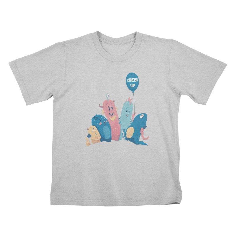 Cheer Up! Kids T-Shirt by Bálooie's Artist Shop