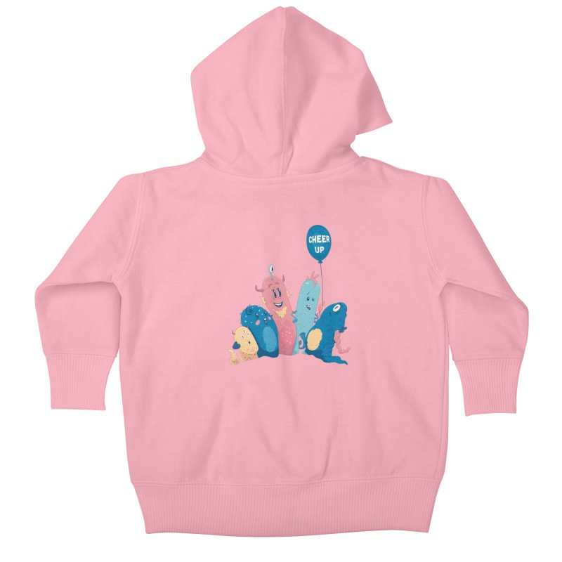 Cheer Up! Kids Baby Zip-Up Hoody by Bálooie's Artist Shop