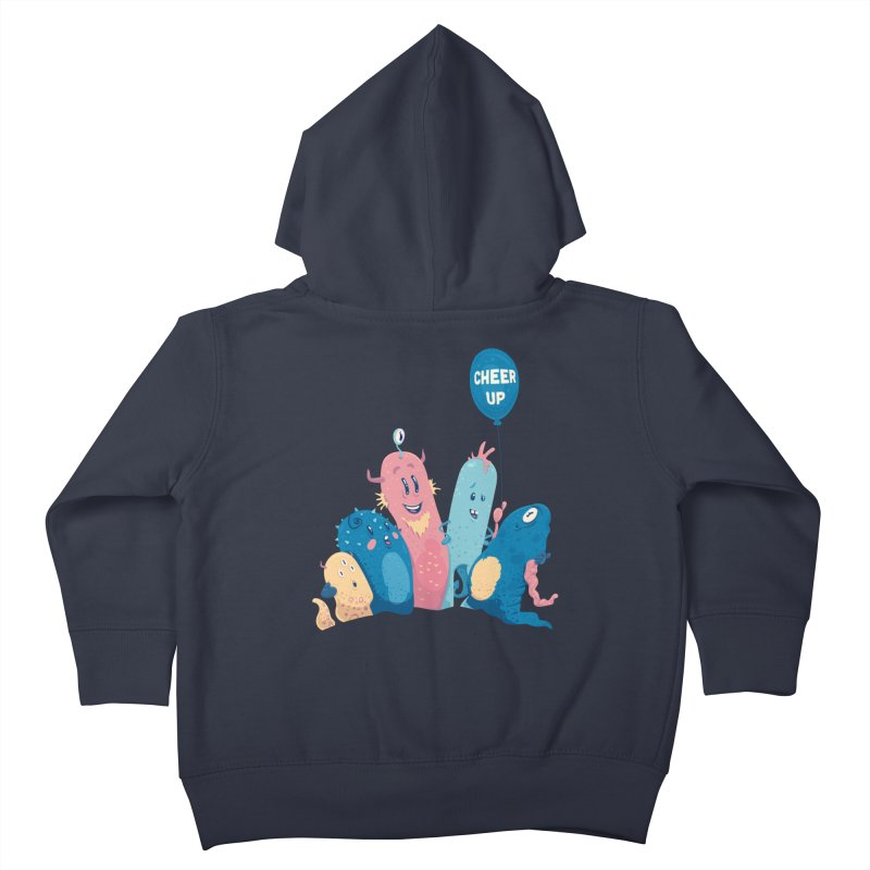 Cheer Up! Kids Toddler Zip-Up Hoody by Bálooie's Artist Shop