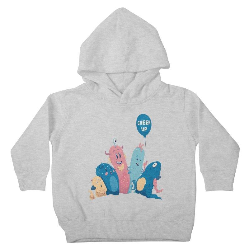 Cheer Up! Kids Toddler Pullover Hoody by Bálooie's Artist Shop