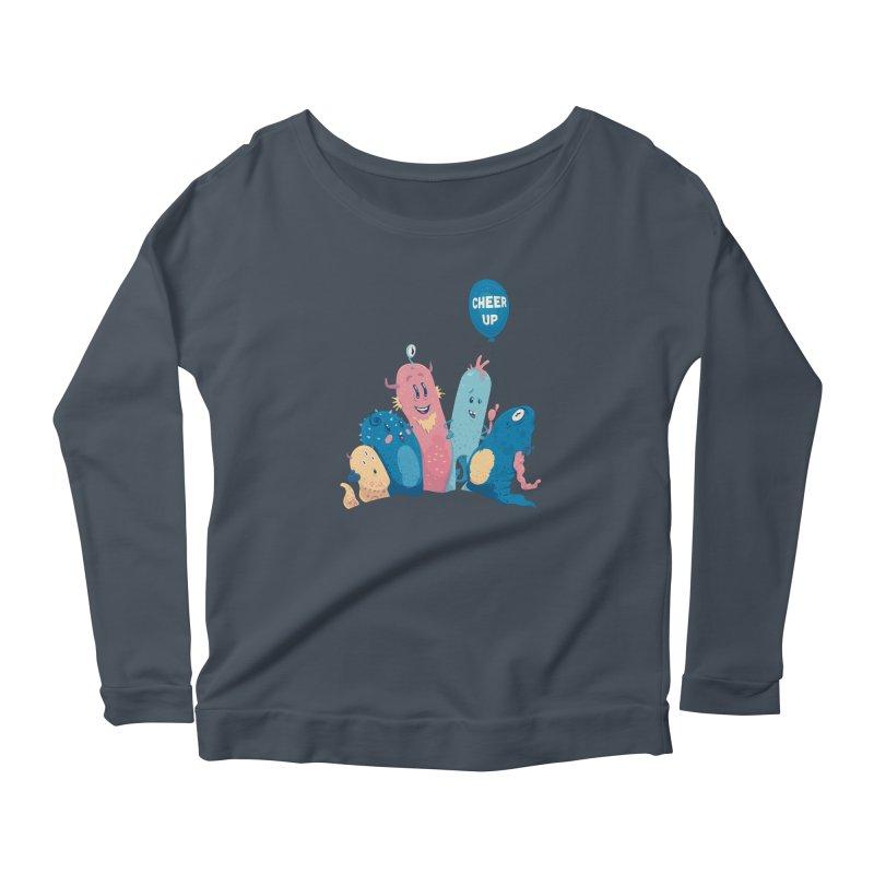 Cheer Up! Women's Scoop Neck Longsleeve T-Shirt by Bálooie's Artist Shop
