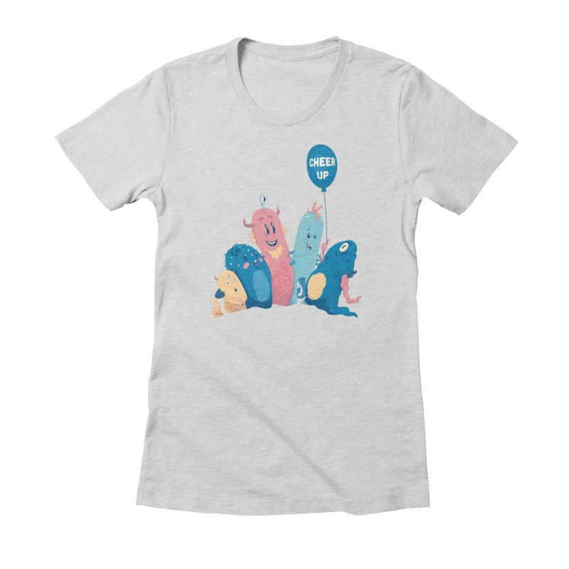 Cheer Up! Women's Fitted T-Shirt by Bálooie's Artist Shop