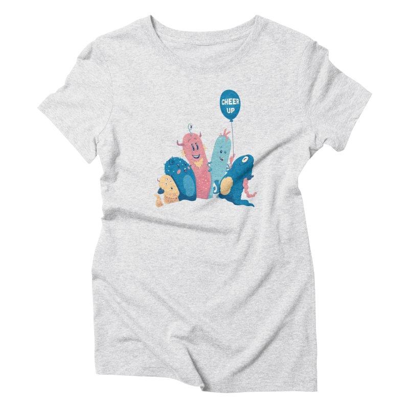 Cheer Up! Women's T-Shirt by Bálooie's Artist Shop