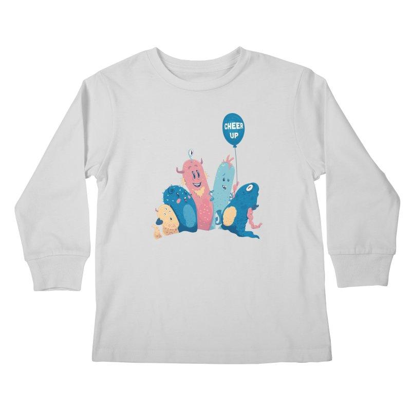 Cheer Up! Kids Longsleeve T-Shirt by Bálooie's Artist Shop