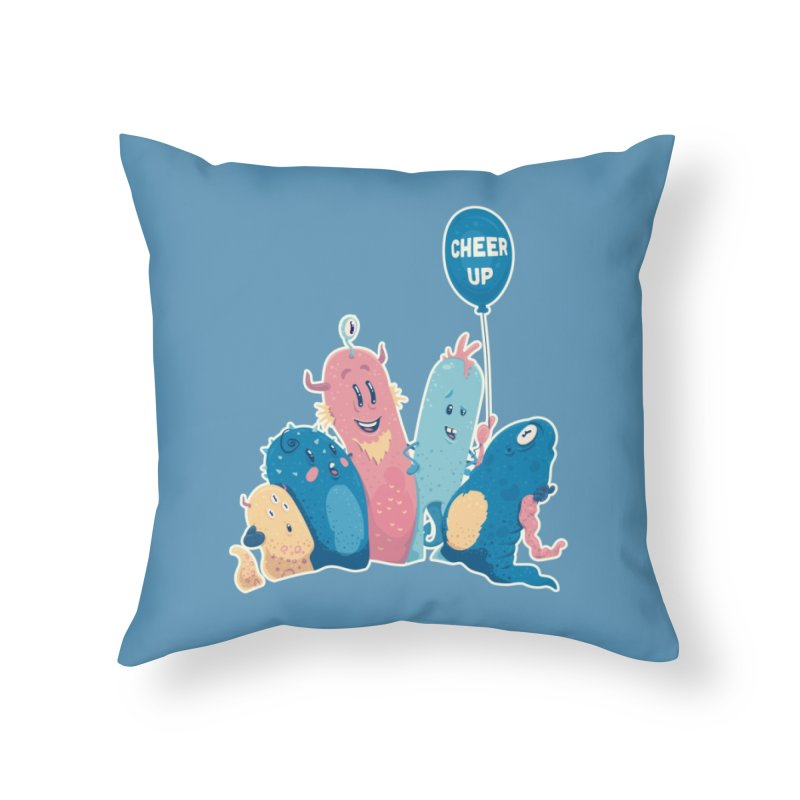 Cheer Up! Home Throw Pillow by Bálooie's Artist Shop