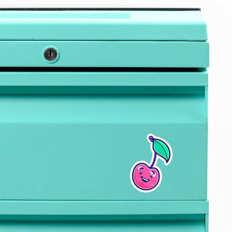 Tropicana Sticker Collection – Cherry Accessories Magnet by Bálooie's Artist Shop