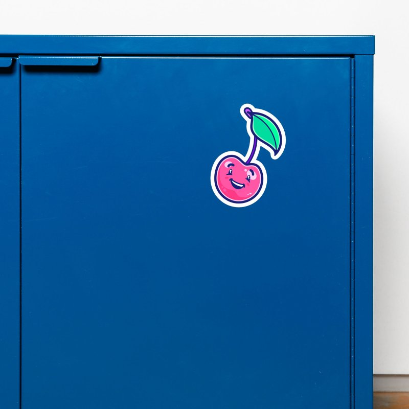 Tropicana Sticker Collection – Cherry Accessories Magnet by Bálooie's Artist Shop
