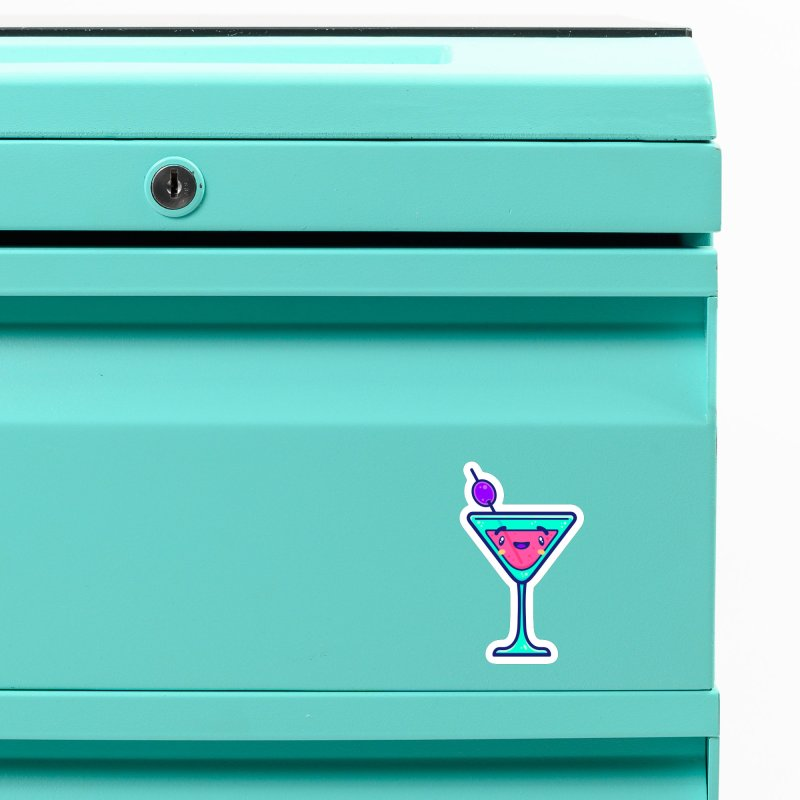 Tropicana Sticker Collection – Cocktail Accessories Magnet by Bálooie's Artist Shop