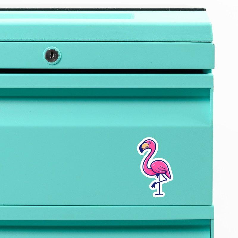 Tropicana Sticker Collection – Flamingo Accessories Magnet by Bálooie's Artist Shop