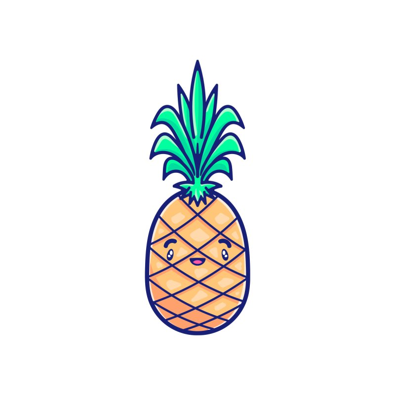 Tropicana Sticker Collection – Pineapple Accessories Button by Bálooie's Artist Shop