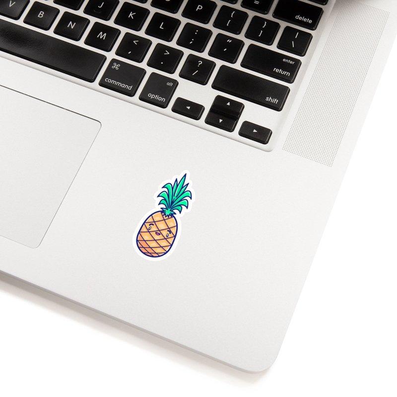 Tropicana Sticker Collection – Pineapple Accessories Sticker by Bálooie's Artist Shop