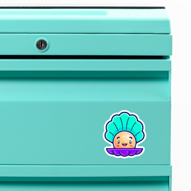 Tropicana Sticker Collection – Shell Accessories Magnet by Bálooie's Artist Shop