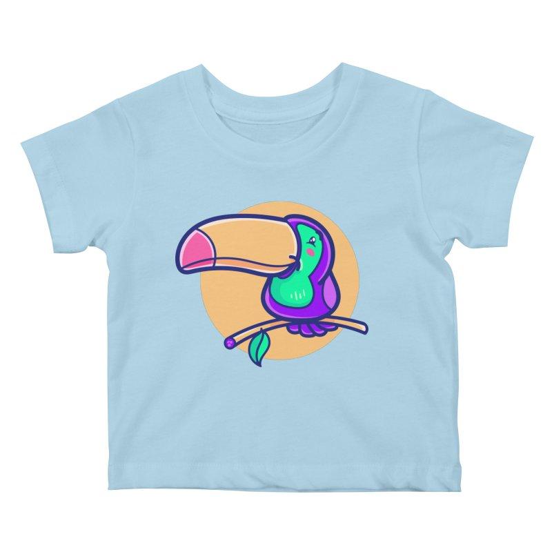 Tropicana Summer Vibes – Toucan Kids Baby T-Shirt by Bálooie's Artist Shop