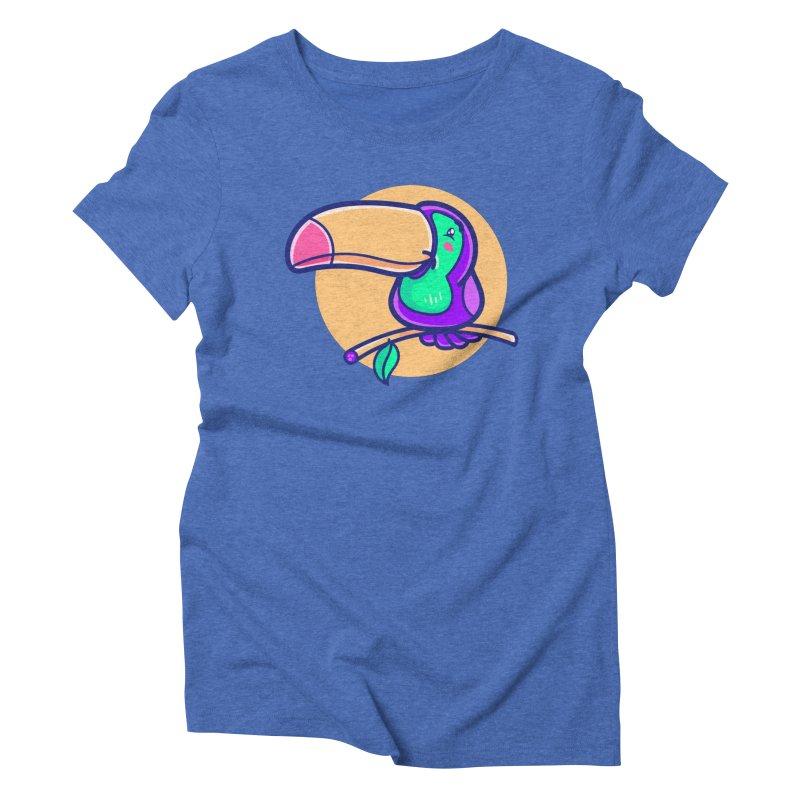 Tropicana Summer Vibes – Toucan Women's T-Shirt by Bálooie's Artist Shop