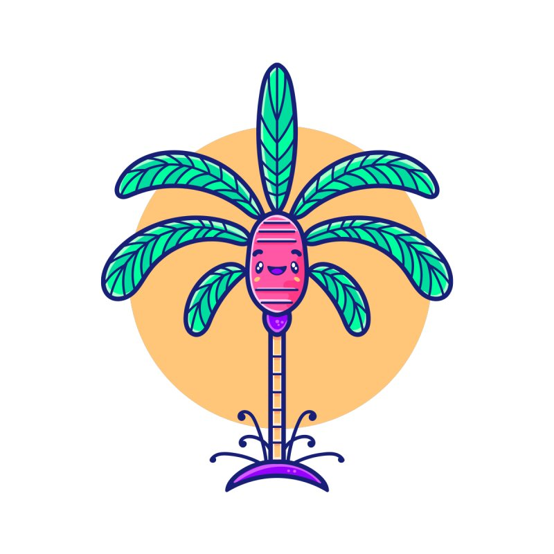 Tropicana Summer Vibes – Palm Men's T-Shirt by Bálooie's Artist Shop