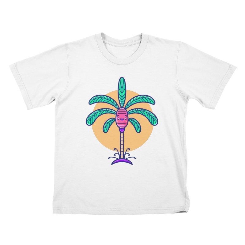 Tropicana Summer Vibes – Palm Kids T-Shirt by Bálooie's Artist Shop