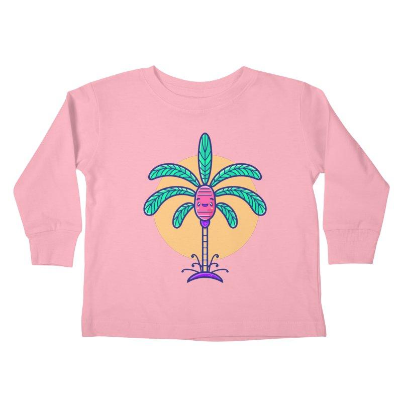 Tropicana Summer Vibes – Palm Kids Toddler Longsleeve T-Shirt by Bálooie's Artist Shop