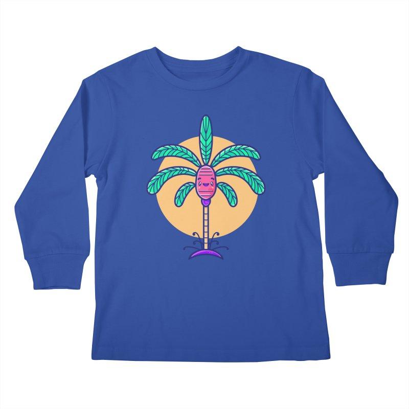 Tropicana Summer Vibes – Palm Kids Longsleeve T-Shirt by Bálooie's Artist Shop