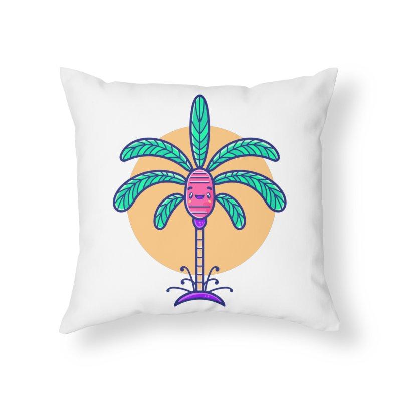 Tropicana Summer Vibes – Palm Home Throw Pillow by Bálooie's Artist Shop