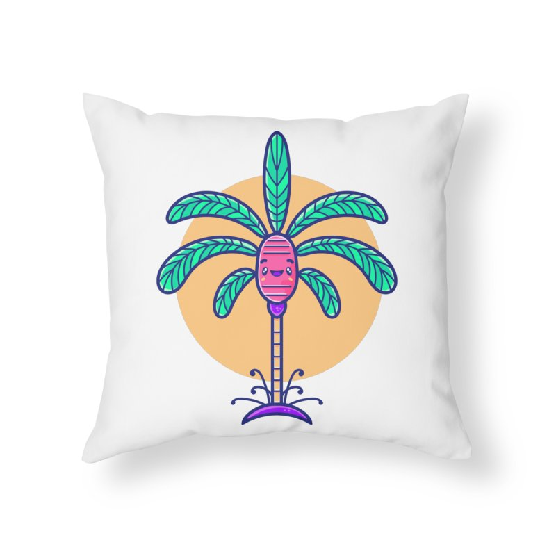 Tropicana Summer Vibes – Palm Home Throw Pillow by Bálooie's Artist Shop