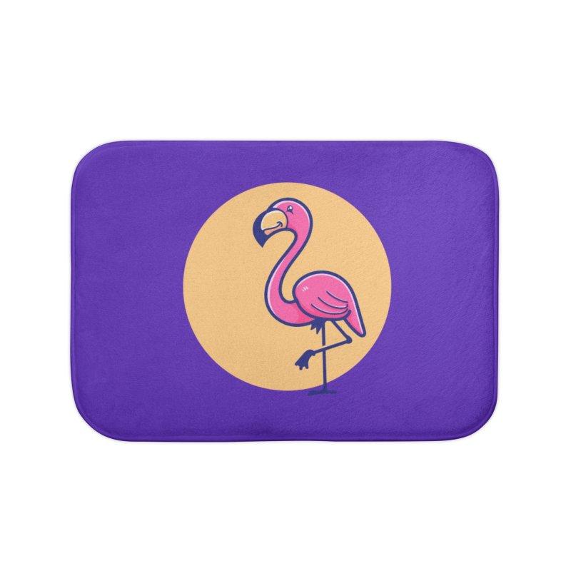 Tropicana Summer Vibes – Flamingo Home Bath Mat by Bálooie's Artist Shop