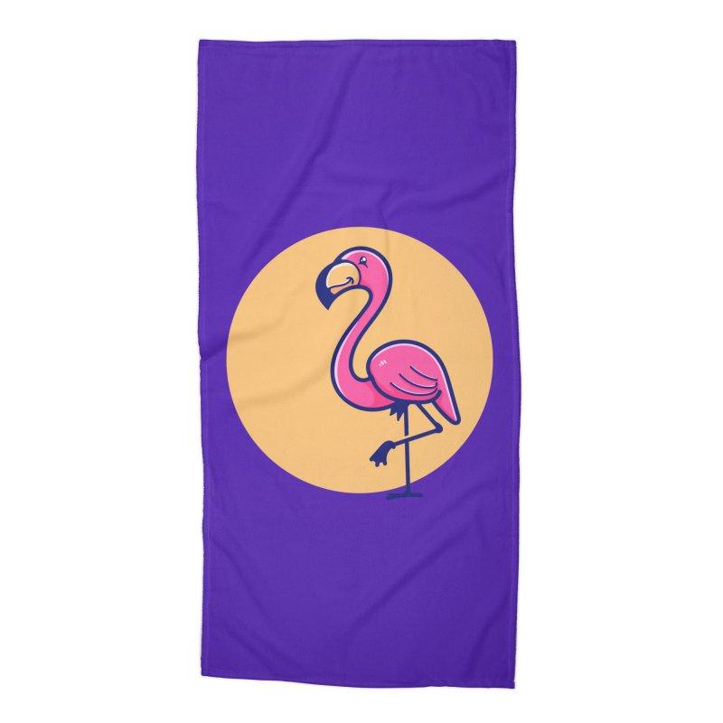Tropicana Summer Vibes – Flamingo Accessories Beach Towel by Bálooie's Artist Shop