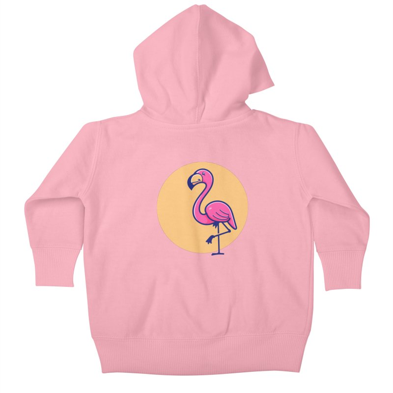 Tropicana Summer Vibes – Flamingo Kids Baby Zip-Up Hoody by Bálooie's Artist Shop