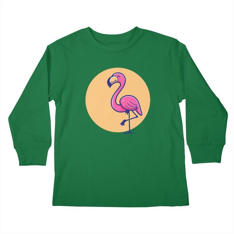 Tropicana Summer Vibes – Flamingo Kids Longsleeve T-Shirt by Bálooie's Artist Shop