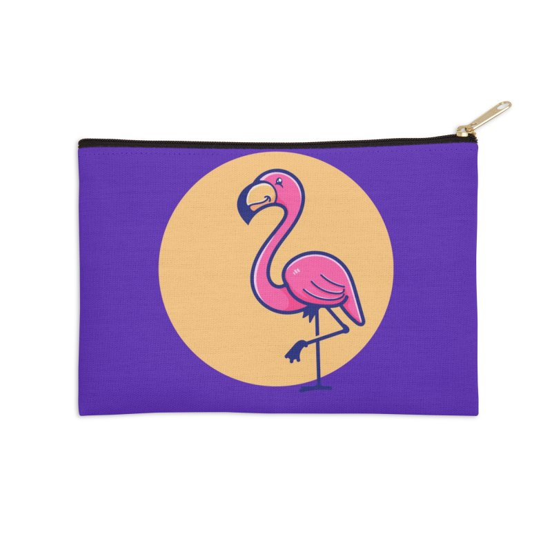 Tropicana Summer Vibes – Flamingo Accessories Zip Pouch by Bálooie's Artist Shop