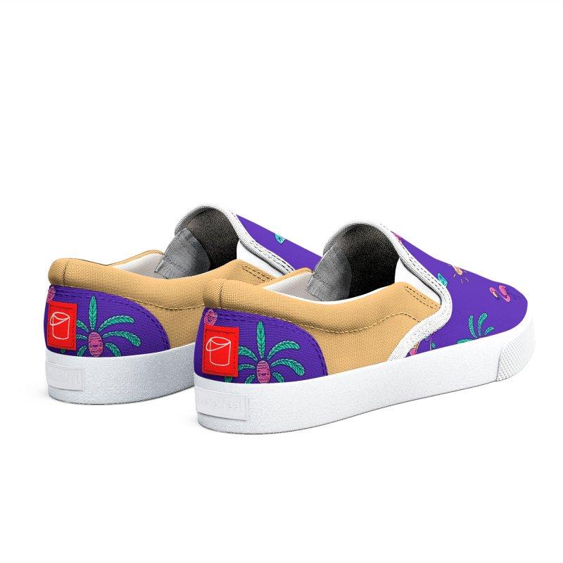 Tropicana Summer Vibes Pattern – Purple Women's Shoes by Bálooie's Artist Shop