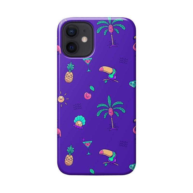 Tropicana Summer Vibes Pattern – Purple Accessories Phone Case by Bálooie's Artist Shop