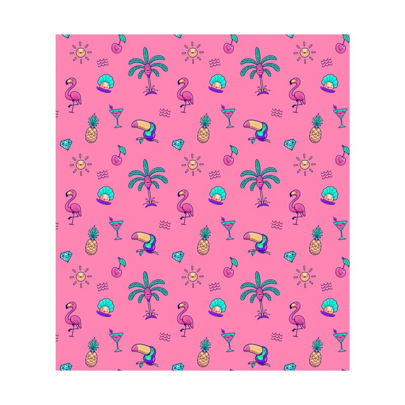 Tropicana Summer Vibes Pattern – Pink Home Mounted Acrylic Print by Bálooie's Artist Shop
