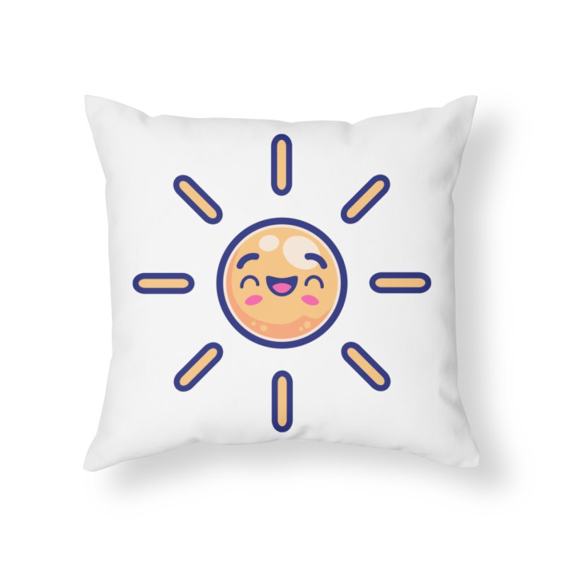 Tropicana Summer Vibes – Sunshine Home Throw Pillow by Bálooie's Artist Shop