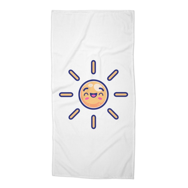 Tropicana Summer Vibes – Sunshine Accessories Beach Towel by Bálooie's Artist Shop