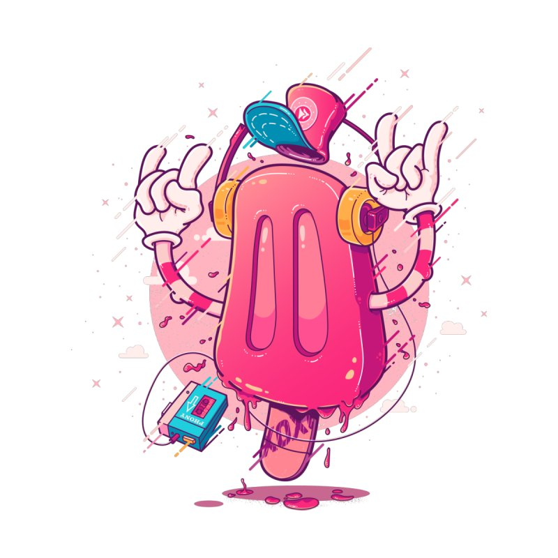 POPsicle Men's T-Shirt by Bálooie's Artist Shop